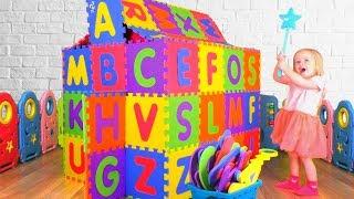 El abecedario en inglés | Canción Infantil Alfabeto | Canciones Infantiles con Katya y Dima