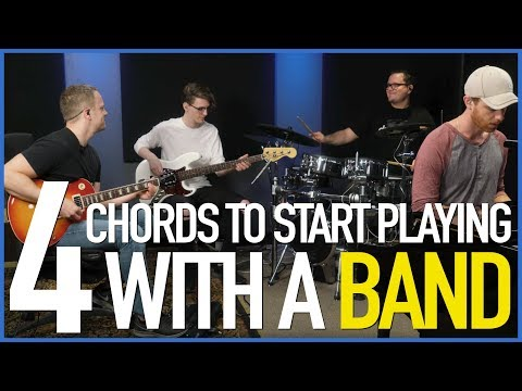 4 Simple Chords To Start Playing With A Band - Guitar Lesson