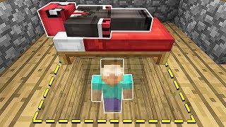 KORKUNÇ HEROBRİNE YATAĞIMIN ALTINDA SAKLANDI! 😱 - Minecraft