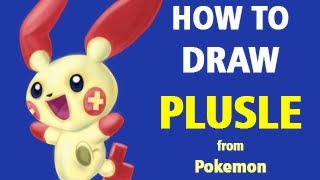 How to Draw Plusle from Pokemon [Speed Painting]