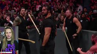WWE Raw 9/10/18 The Shield interrupt the dogs of war