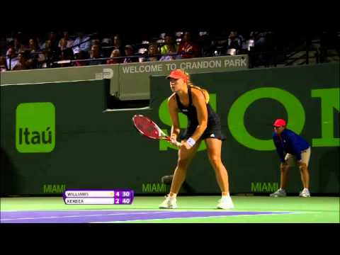 Sony Open Tennis S. Williams vs Kerber Highlights 3-25