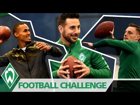 SUPER BOWL Football-Challenge mit Claudio Pizarro, Robert Bauer & Theo Gebre Selassie | SV WERDER