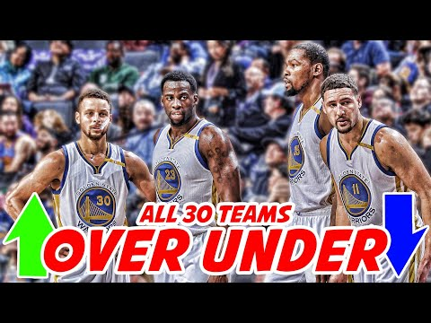 ALL 30 NBA TEAMS RECORDS PREDICTED! | NBA Over Under