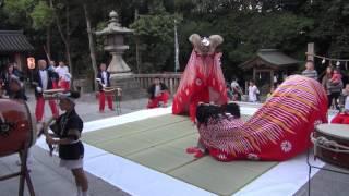 2015年(平成27年)浪打八幡神社 宵 吉津夫婦獅子舞 北村