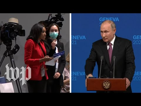 Reporter asks Putin why his political opponents are 'dead, i