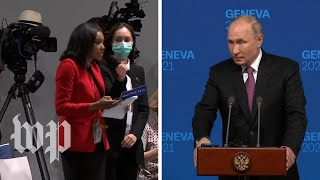 Reporter asks Putin why his political opponents are 'dead, in prison, or poisoned'