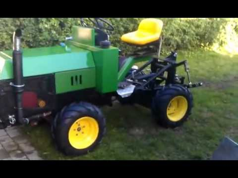 homemade 4wd articulating gardenlawn tractor YouTube
