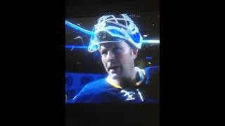 Martin Brodeur 1st Blues home win 1st star intvw