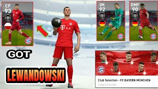 Got LEWANDOWSKI from FC BAYERN MÜNCHEN club selection Pack Opening | PES 2020 Mobile
