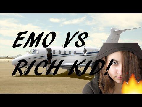 EMO GIRL VS PRIVATE JET KID   CSGO RAGE