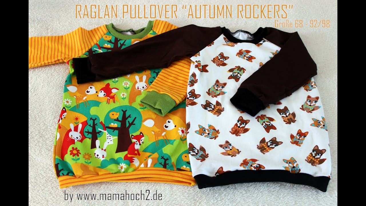 Nähanleitung Raglan Pullover Freebook Gr. 68-146 - YouTube