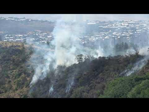 В Ереване горит холм Цицернакаберд