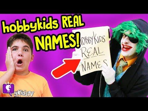 HobbyKids REAL NAMES STOLEN by GameTrixster on HobbyKidsTV