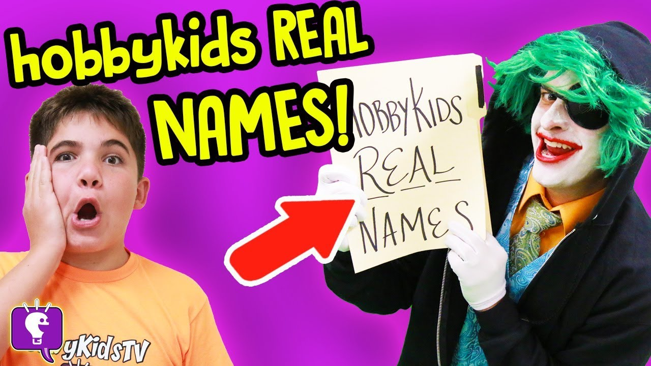 HobbyKids REAL Name Reveal? by GameTrixster! on HobbyKidsTV