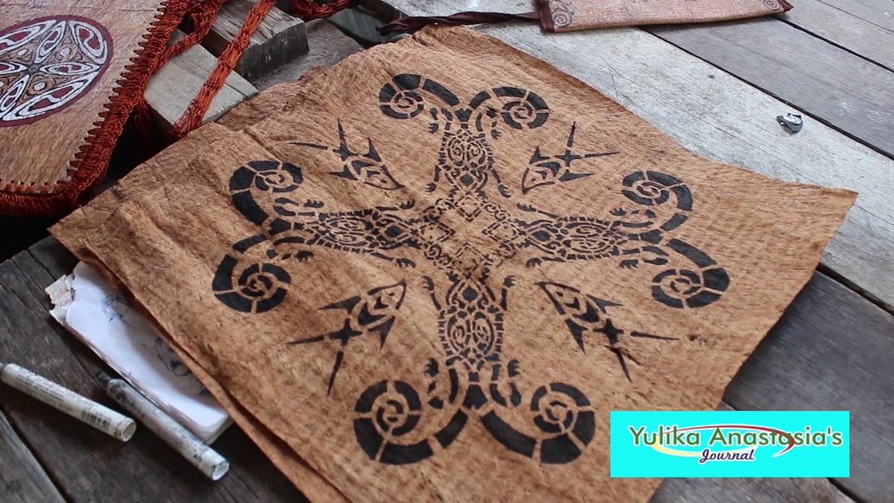 cakep kerajinan kulit kayu souvenir khas dari sentani papua youtube