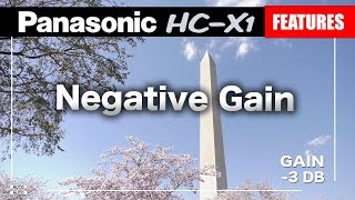Panasonic HC-X1 Negative Gain | Extended Sensitivity For Better Picture | Feature Tutorial