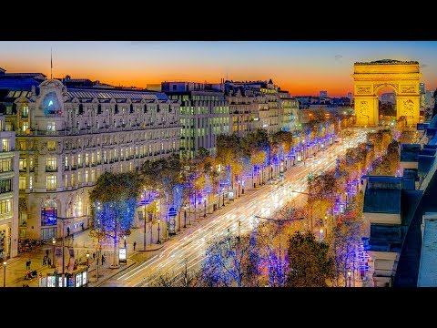 A Walk Down The Avenue des Champs-Élysées, Paris