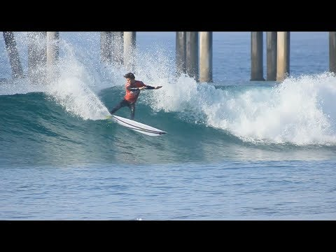 Surfing HB Pier | February 11th | 2018 (RAW)