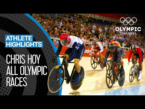 Chris Hoy's 🇬🇧 Seven Olympic Medal Races | Athlete Highlights