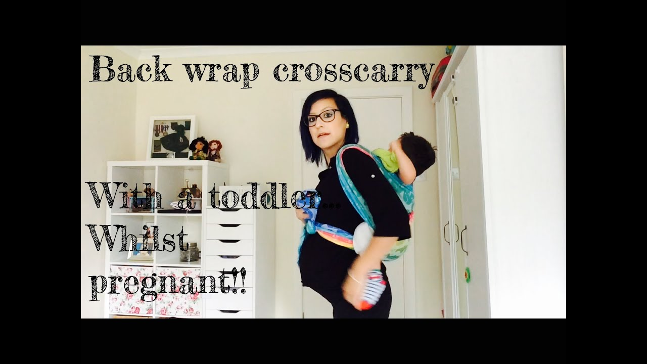 Pregnant And Babywearing A Toddler Backwrap Cross Carry
