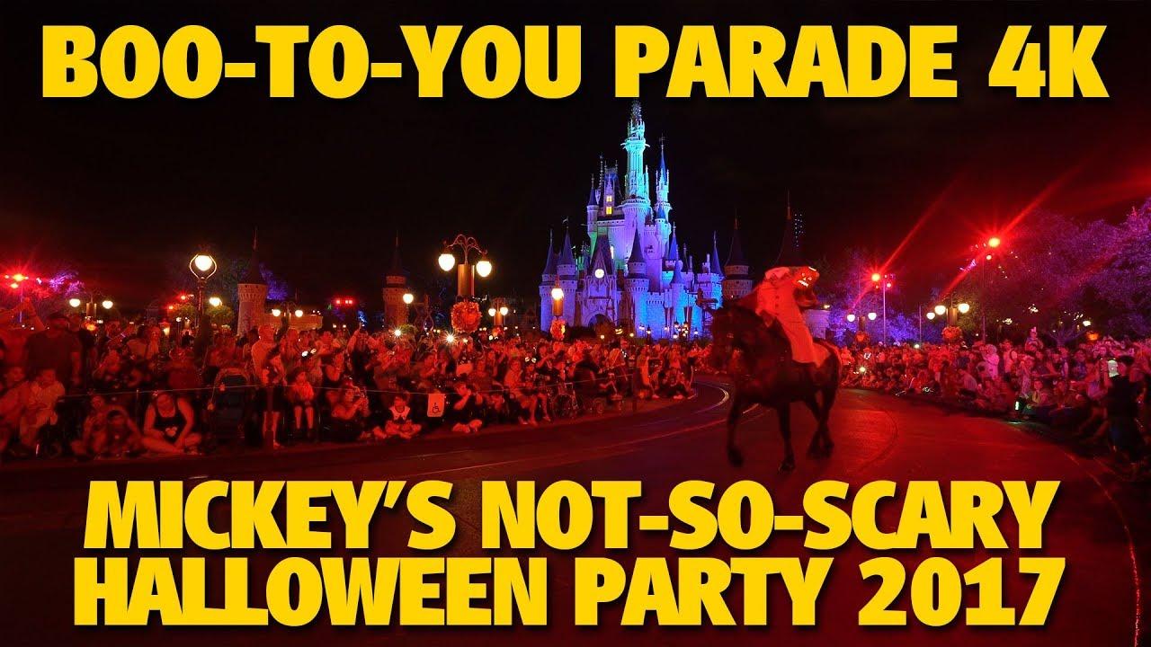 mickeys boo to you halloween parade 2017 mickeys not so scary halloween party