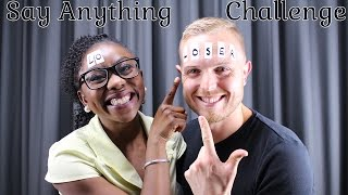 SAY ANYTHING CHALLENGE || DID SHE CHEAT?? || Interracial couple