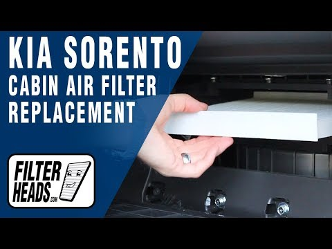 how to replace cabin air filter kia sorento youtube. Black Bedroom Furniture Sets. Home Design Ideas