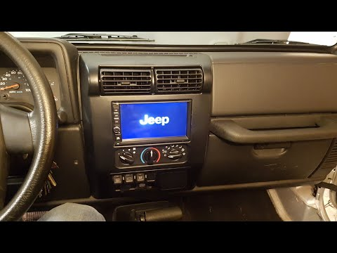 97-06 Jeep Wrangler TJ Double Din Stereo Installation Android Navigation