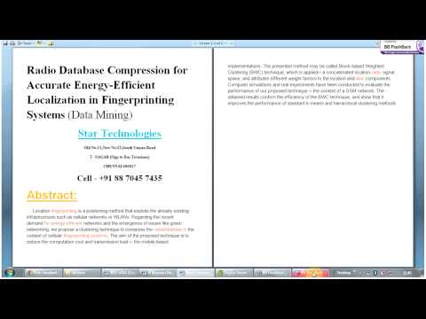 Radio Database Compression for Accurate Energy