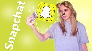 Как пользоваться Snapchat'ом??? \\ Как сделать СОБАЧКУ???