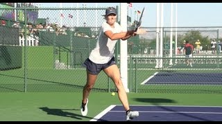 Maria Sharapova in Super Slow Motion - Forehand and Backhand - BNP Paribas 2013