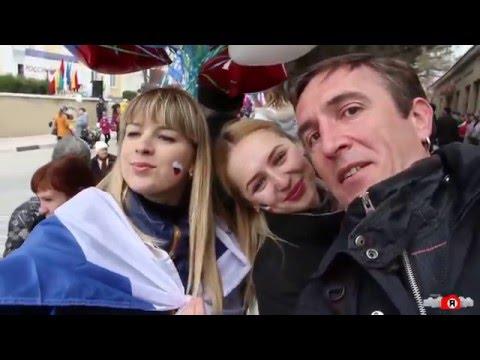 Смотреть 18 марта 2016. Судак. Митинг. День воссоединения Крыма с Россией онлайн