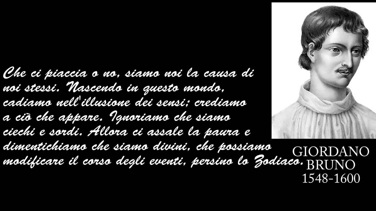 Frasi Celebri Di Giordano Bruno Youtube
