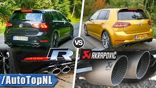 VW GOLF R 2019 Sound AKRAPOVIC vs STOCK Exhaust by AutoTopNL