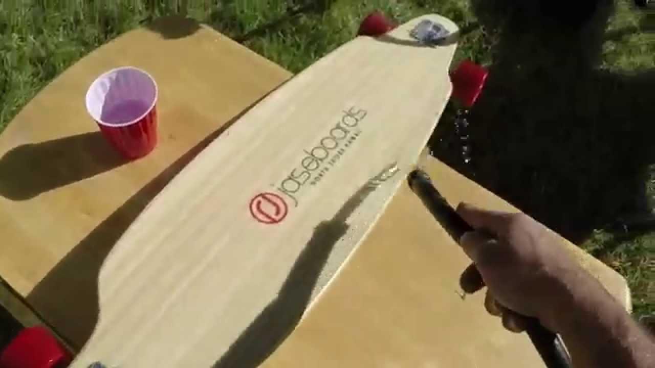 how to clean clear griptape skateboard or longboard - YouTube
