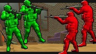 БИТВА ИГРУШЕЧНЫХ СОЛДАТИКОВ В КОМНАТЕ War of Toys Битва игрушек, зомби