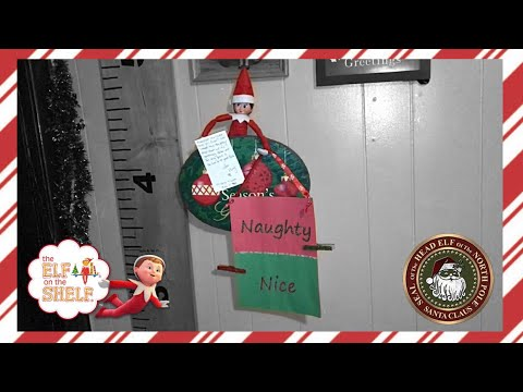 Christmas Naughty Or Nice Chart.Flurry Brought Naughty Nice List Chart Elf On The Shelf