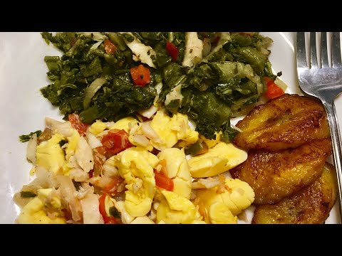 Ackee & Saltfish With Callaloo