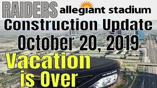 Las Vegas Raiders Allegiant Stadium Construction Update 10 20 2019