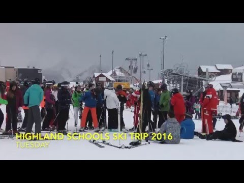 Highland Schools Ski trip 2016 Tuesday