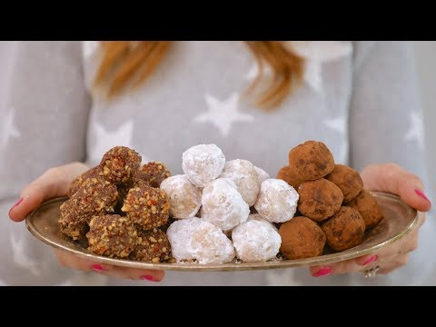 3 No-Bake Christmas Cookie Balls (Peanut Butter, Rum, And Chocolate Hazelnut)