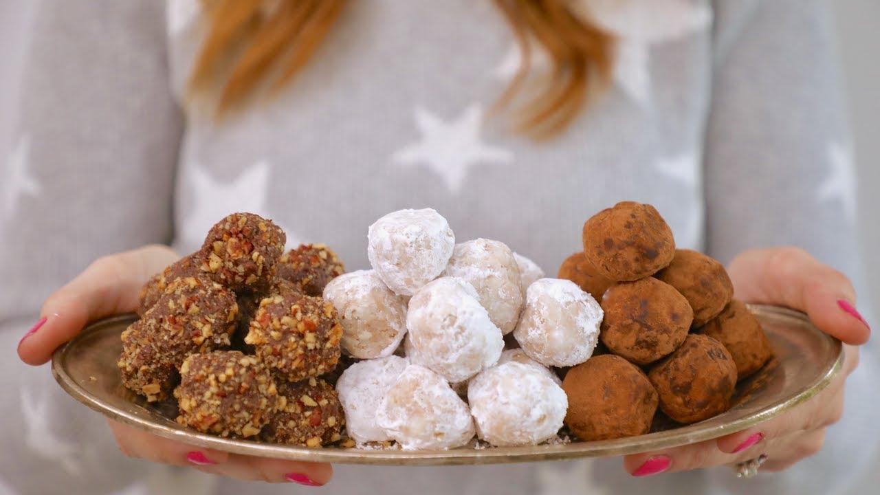 No Bake Peanut Butter Snowball Cookies
