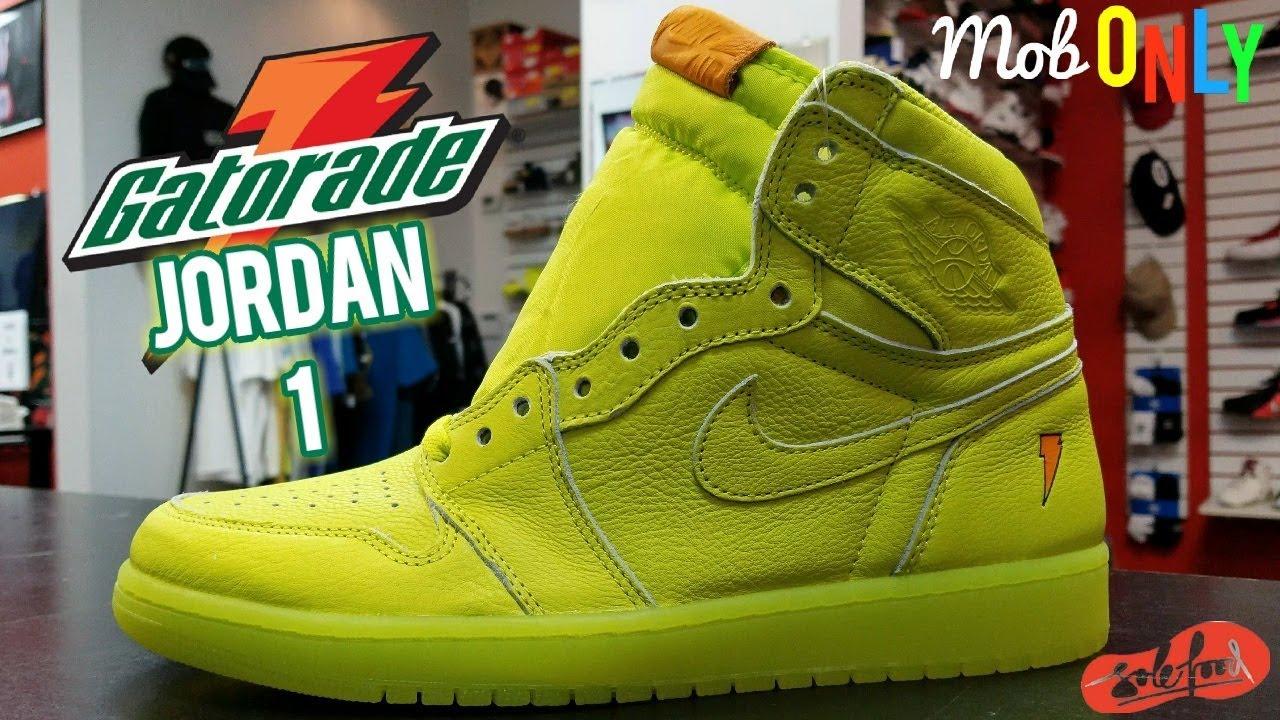 03adaf9c627 Air jordan 1 Retro High OG Gatorade Lemon Lime