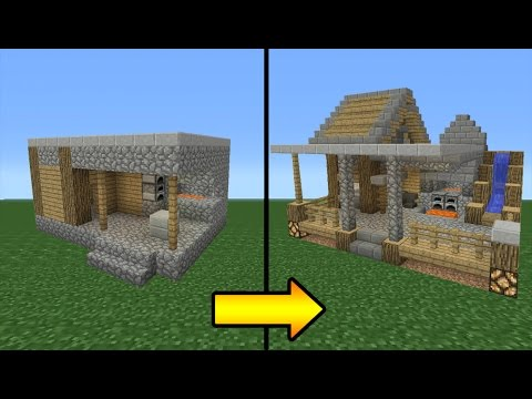 Minecraft tutorial how to transform a villager blacksmith for Small house design village