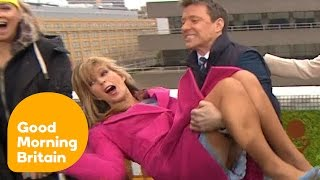 Ben Shephard Tries To Dunk Kate Garraway In Icy Water! | Good Morning Britain