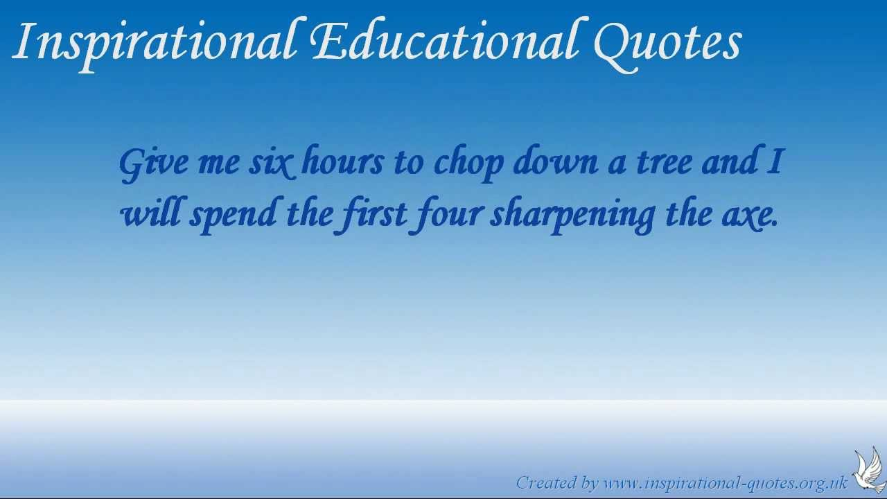 Inspirational Educational Quotes - YouTube