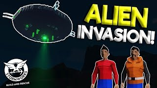 SCARY ALIENS INVADE MILITARY BASE?! - Stormworks: Build and Rescue Gameplay - Plane Crash Survival