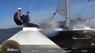 Catamaran crash Dart 18