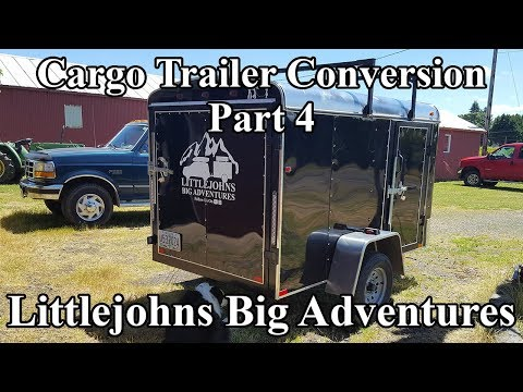 Cargo Trailer Conversion Build Part 4 - Electrical, Painting & Counters